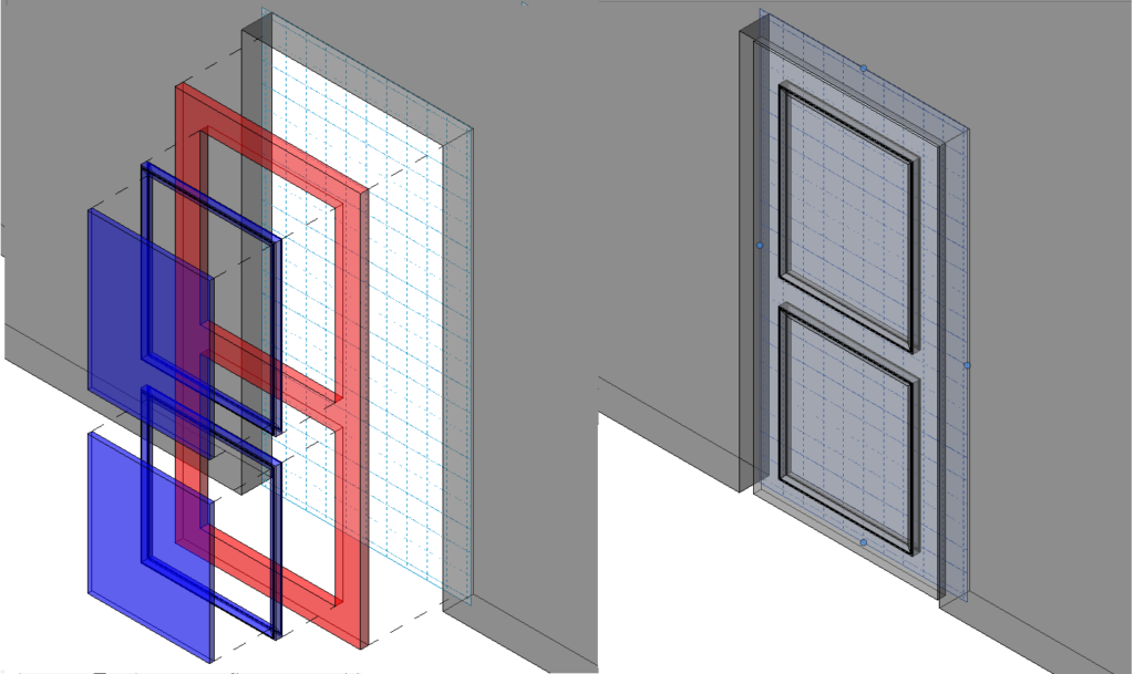Modelling Revit Family Editor Environment, reference planes